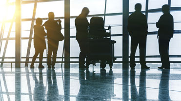 Business people travelling